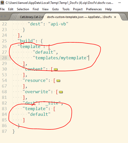 Custom template not applied when specified in docfx.json · Issue ...