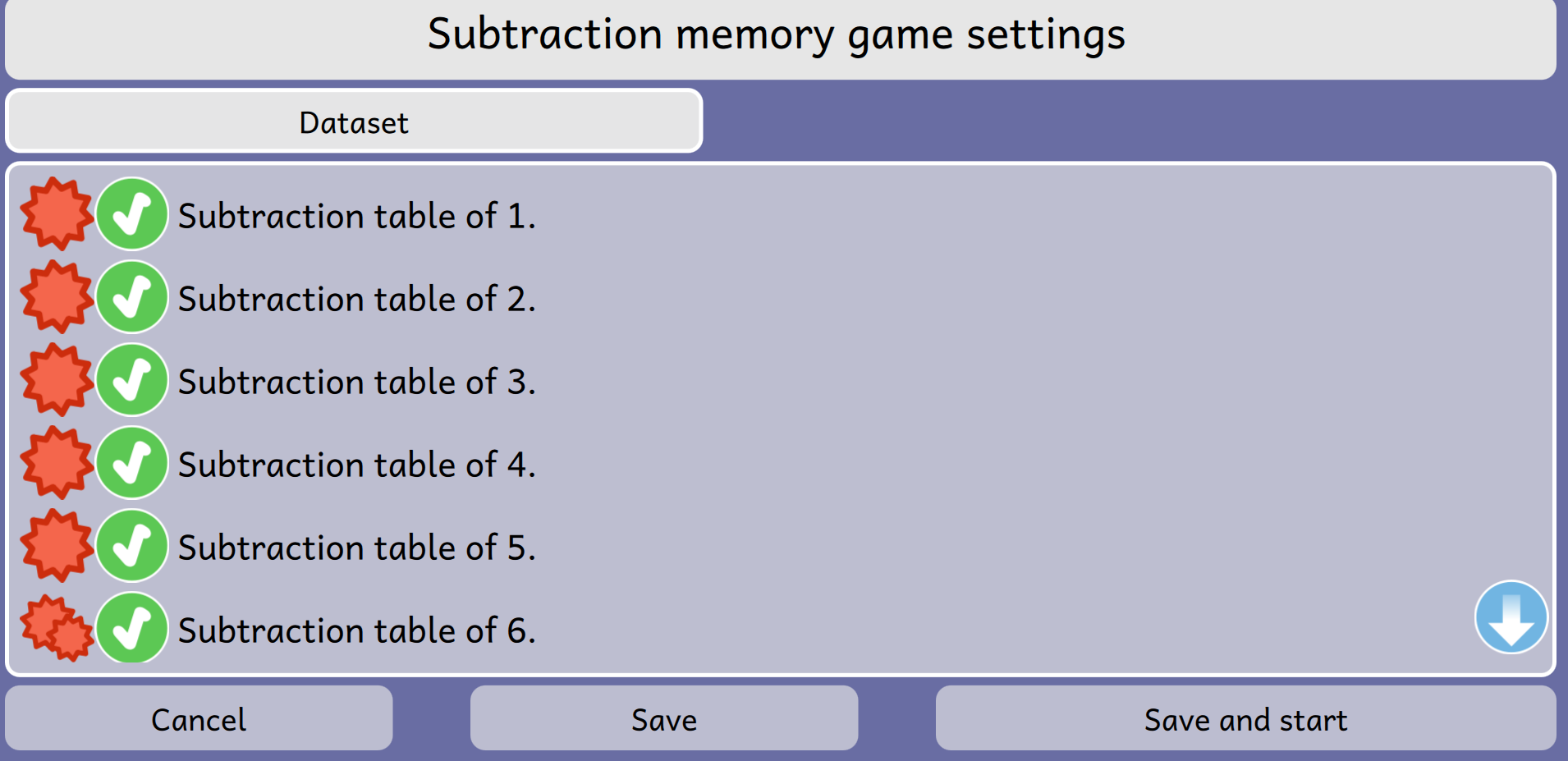 subtraction-memory-games