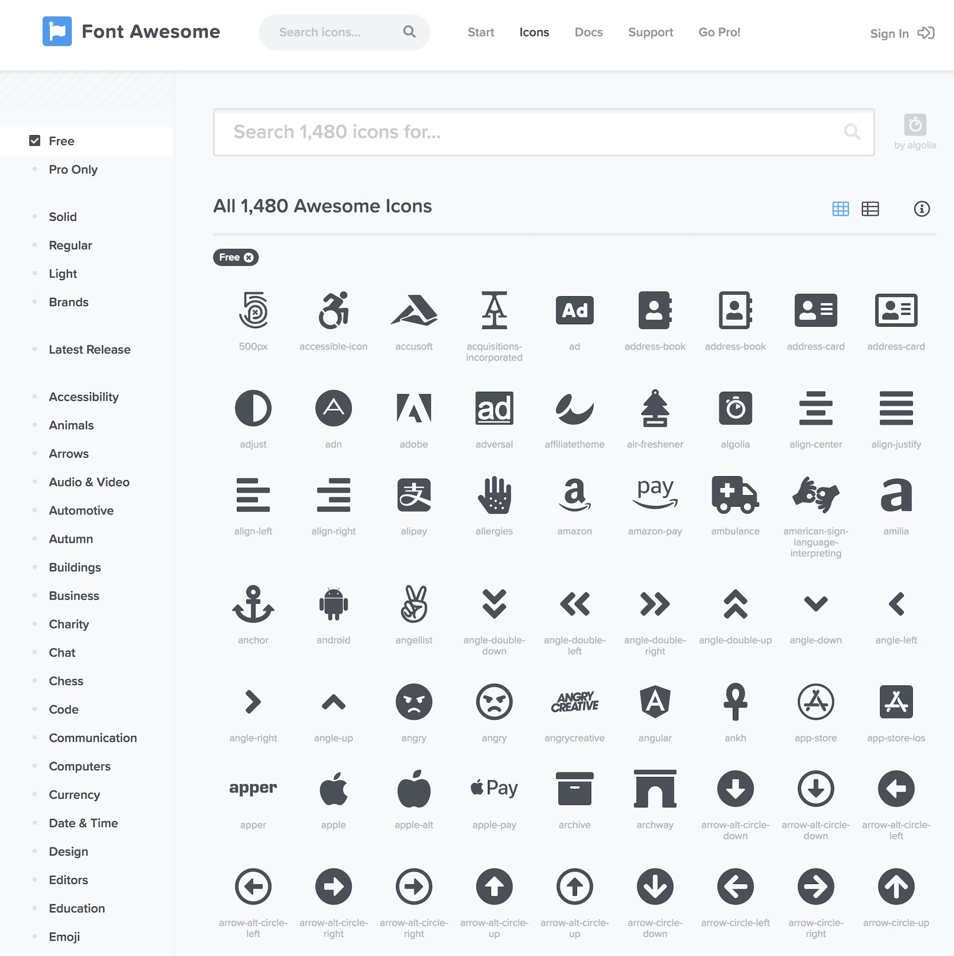 font-awesome-icon