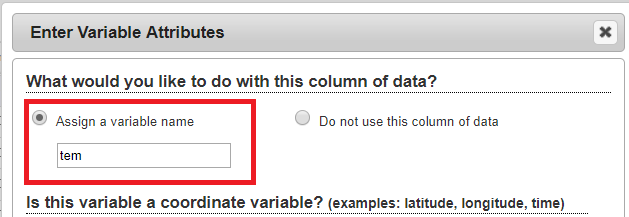autocomplete variable name in the variable metadata entry