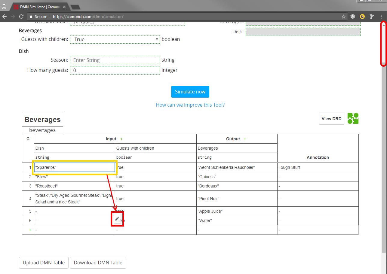 Editing cell context menu wrong offset · Issue #359 · bpmn-io/dmn-js