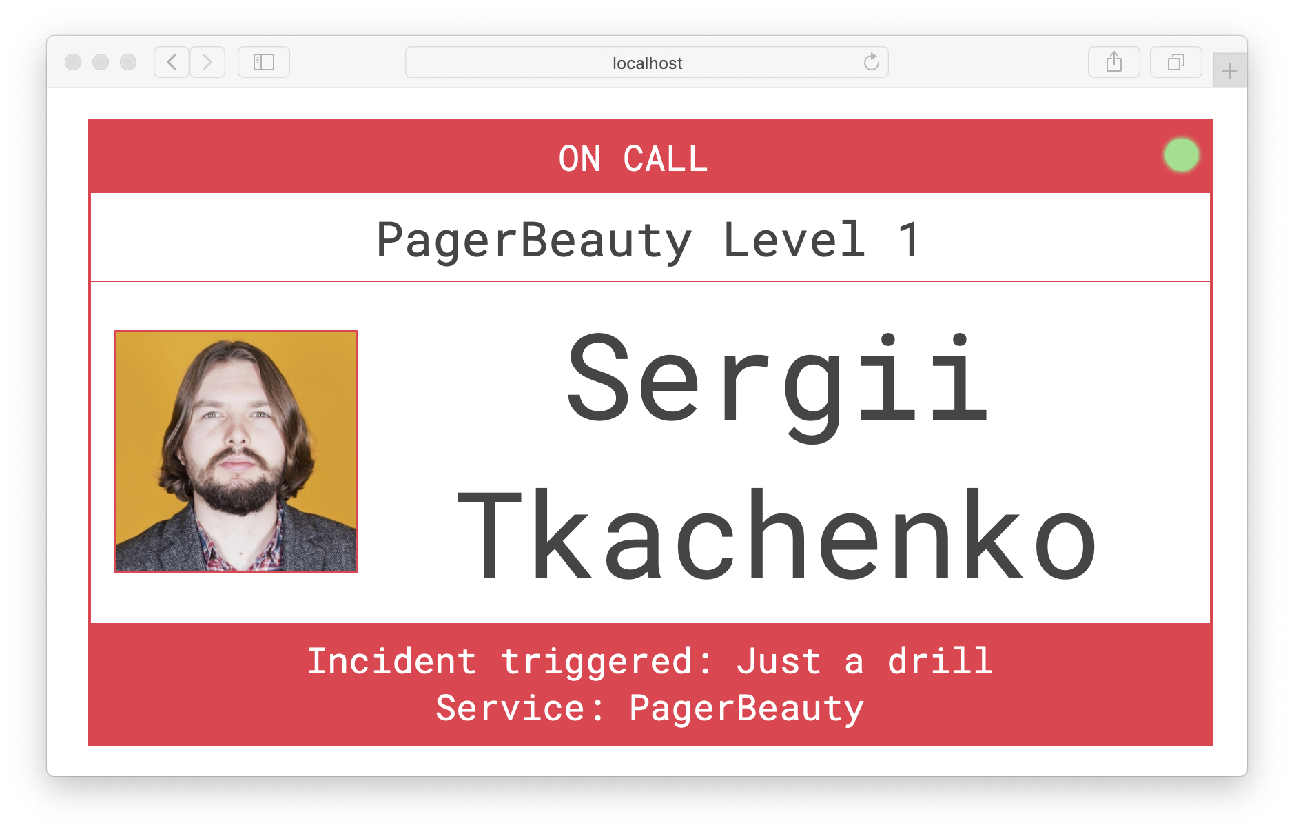 Active PagerDuty Incident