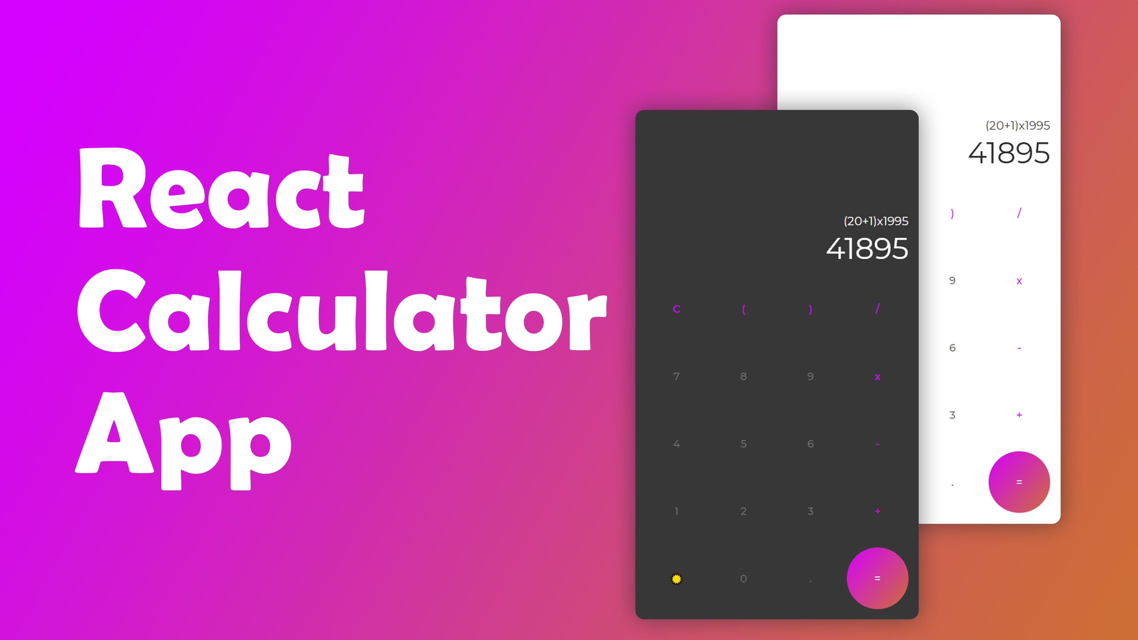 """React Calculator App"""