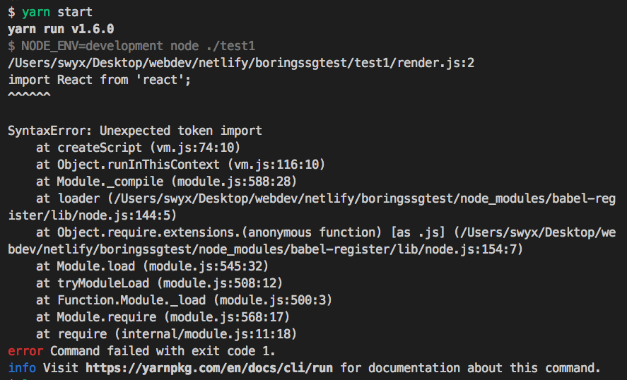 babel-register] doesn't transpile import syntax,