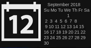 Calendar widget dates are not aligned · Issue #401 · lcpz/lain · GitHub