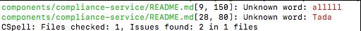 Command-line output
