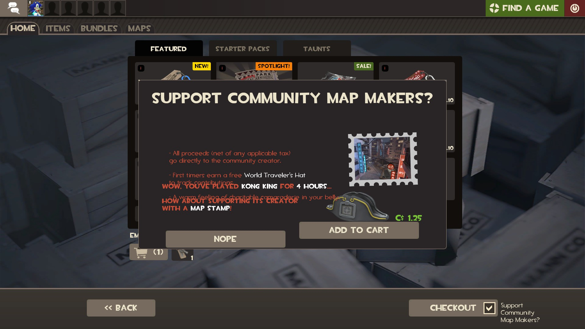 TF2] Community Stamp Donation Panel not displaying properly