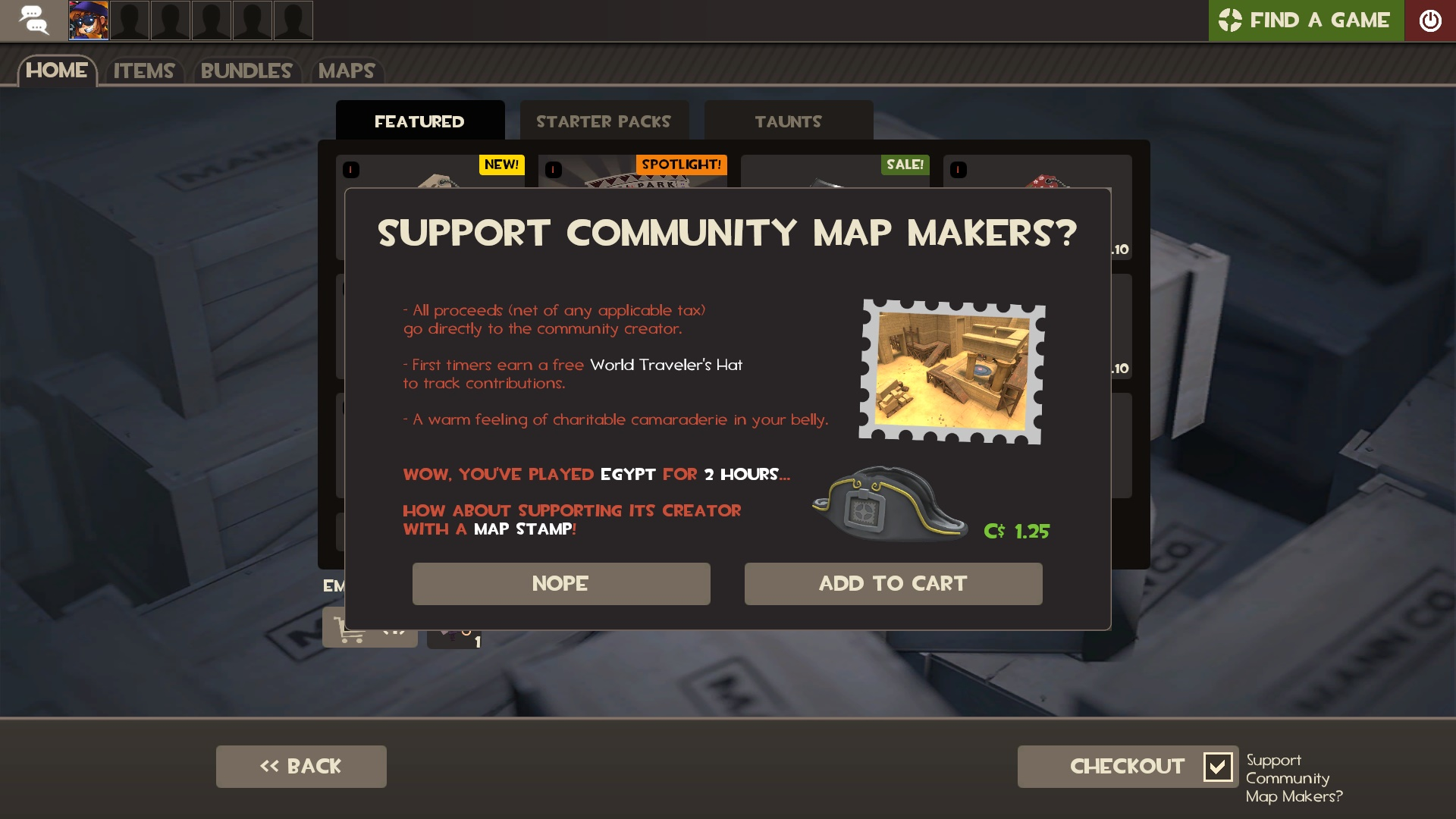 TF2] Community Stamp Donation Panel not displaying properly · Issue