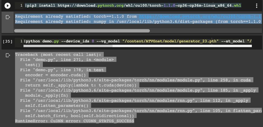 RNN have CuDNN error: CUDNN_STATUS_SUCCESS with Tesla T4 · Issue