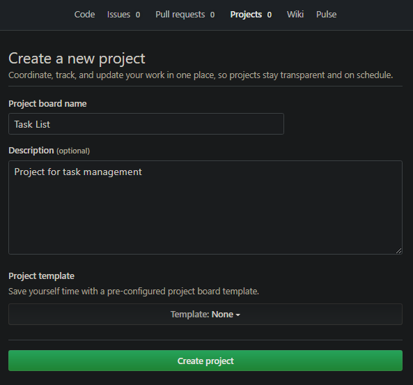 Project Setting