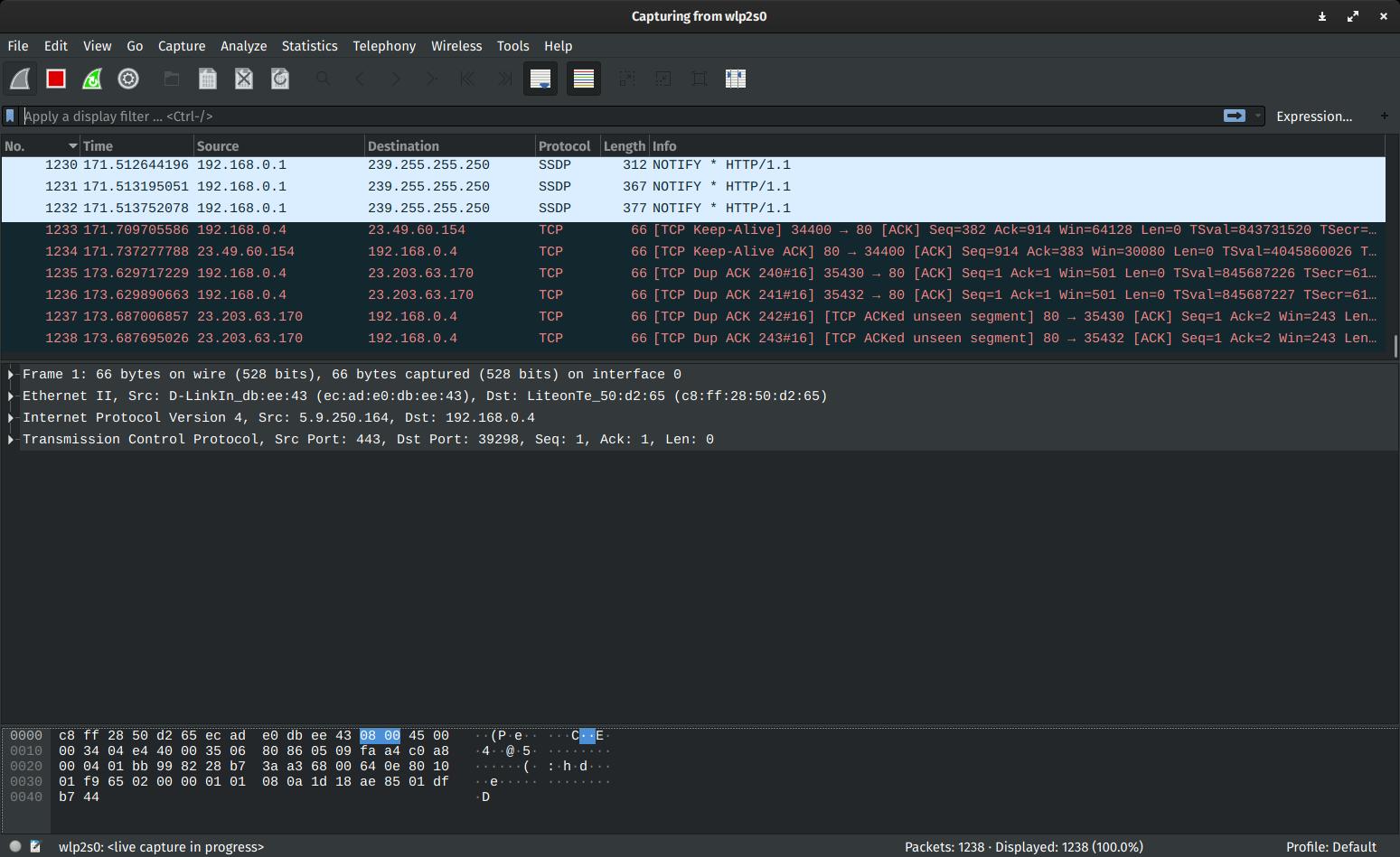 WiresharkをMacBookに入れてネットワークトラフィックを解析する