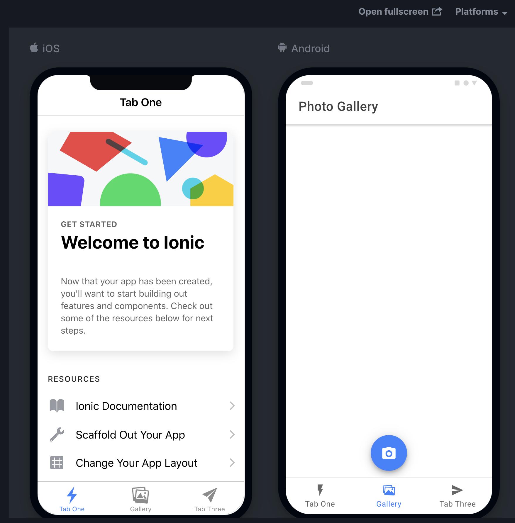 Ionic FirstApp Temaplate