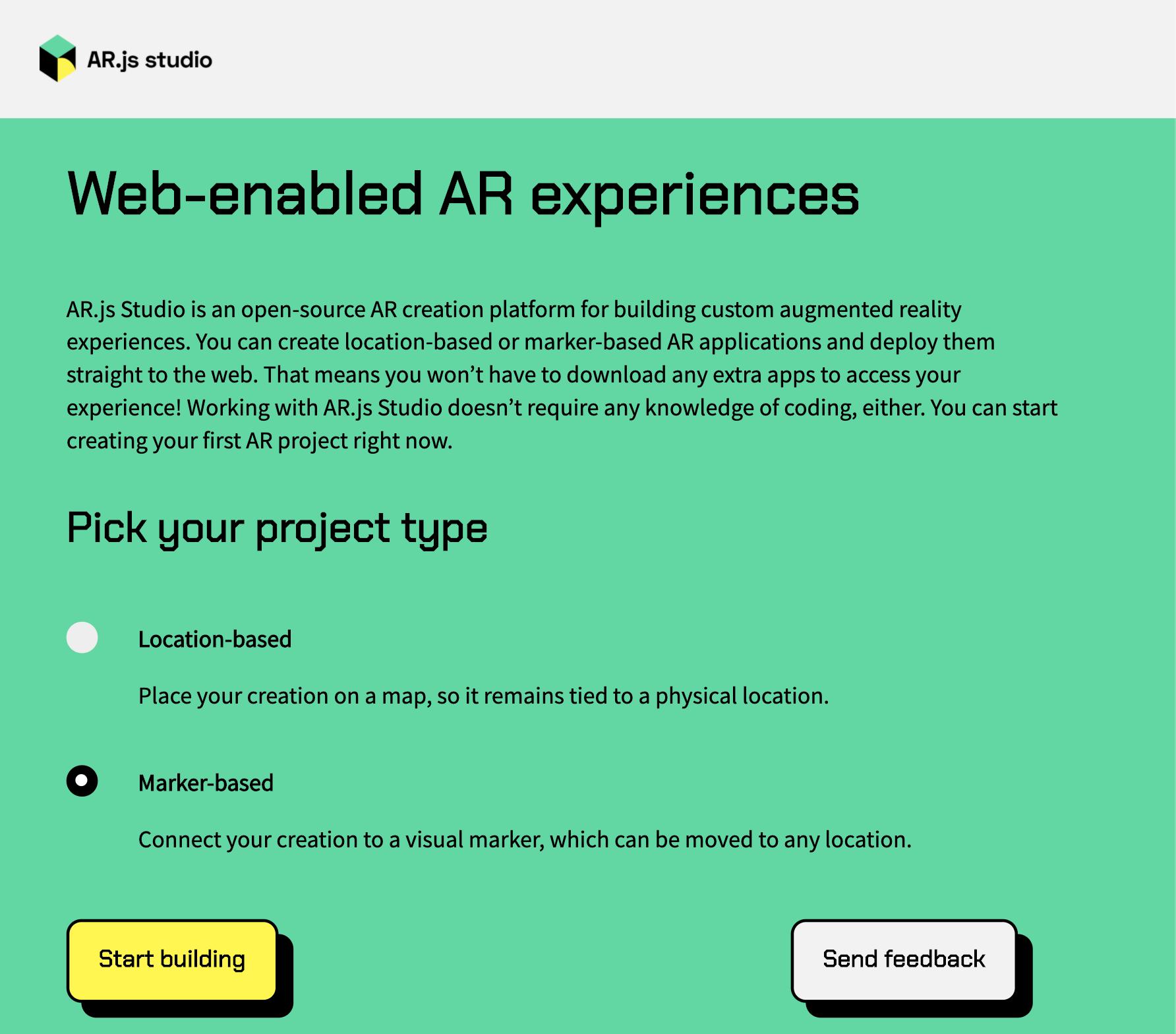 AR js Studio Marker-based
