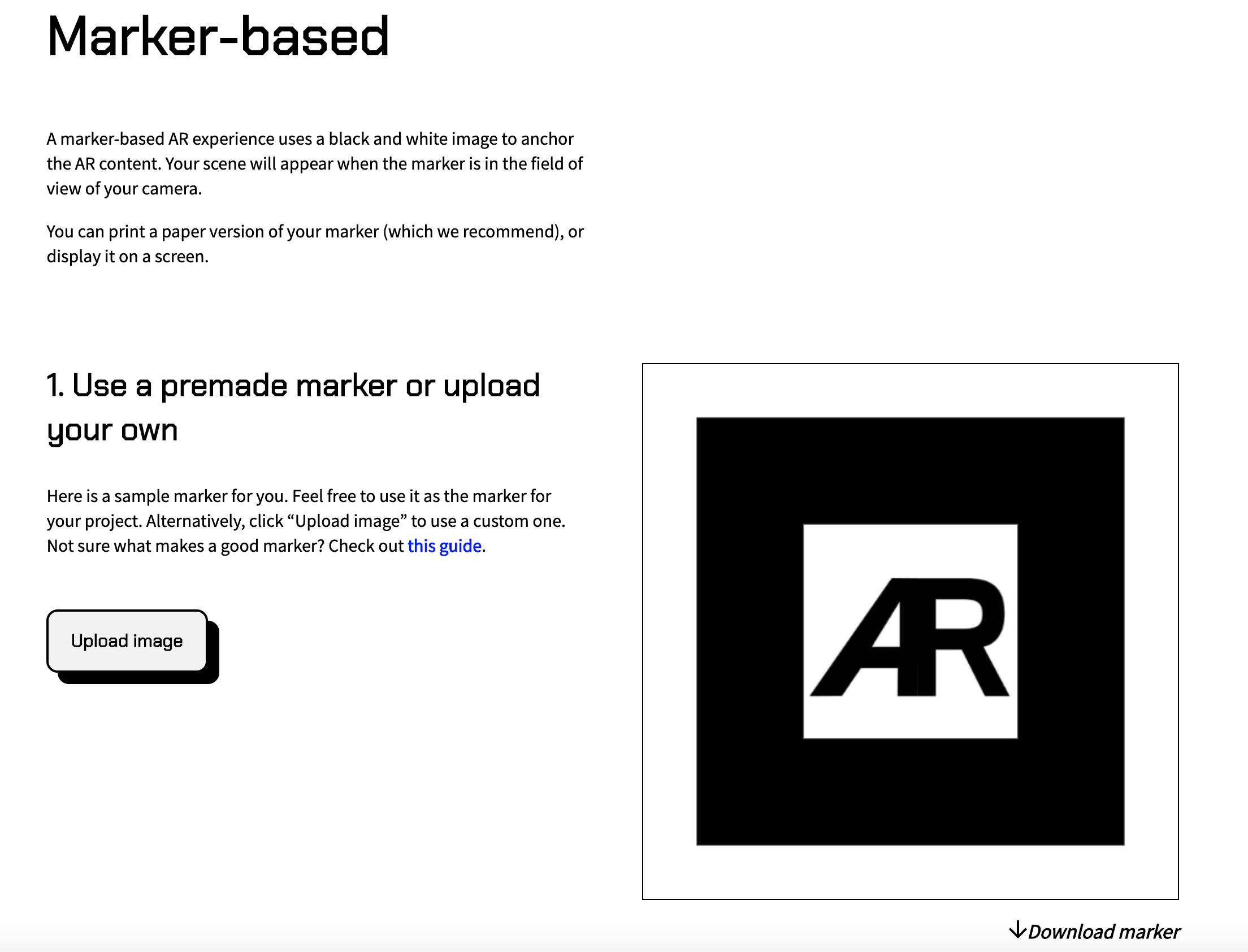 AR js 1 change marker