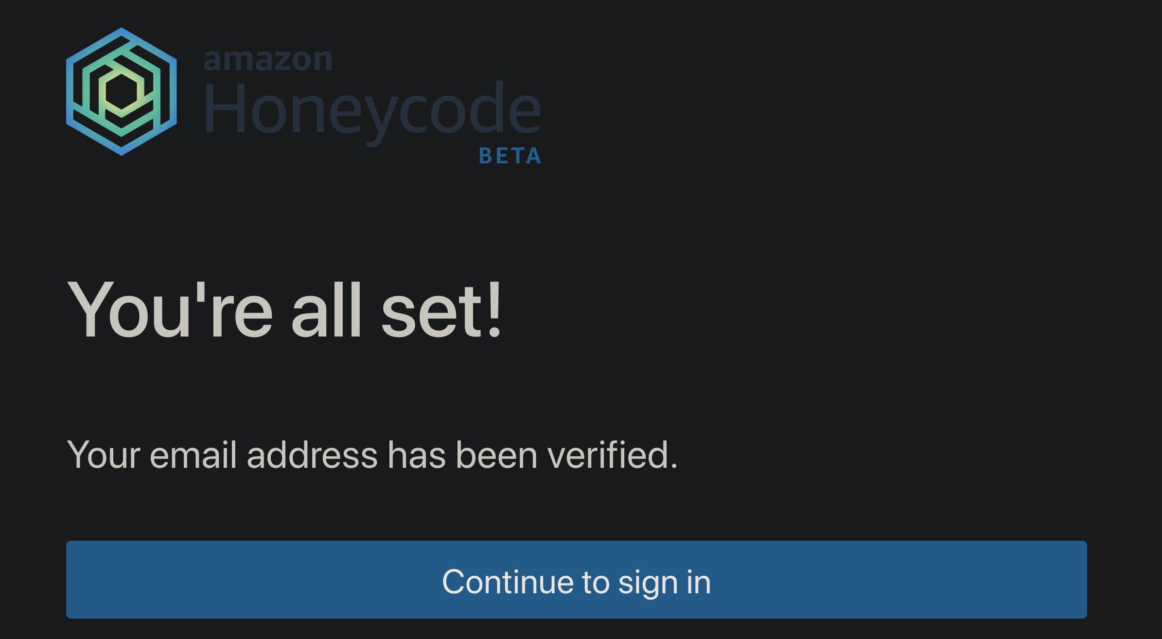 Amazon Honeycode 承認画面