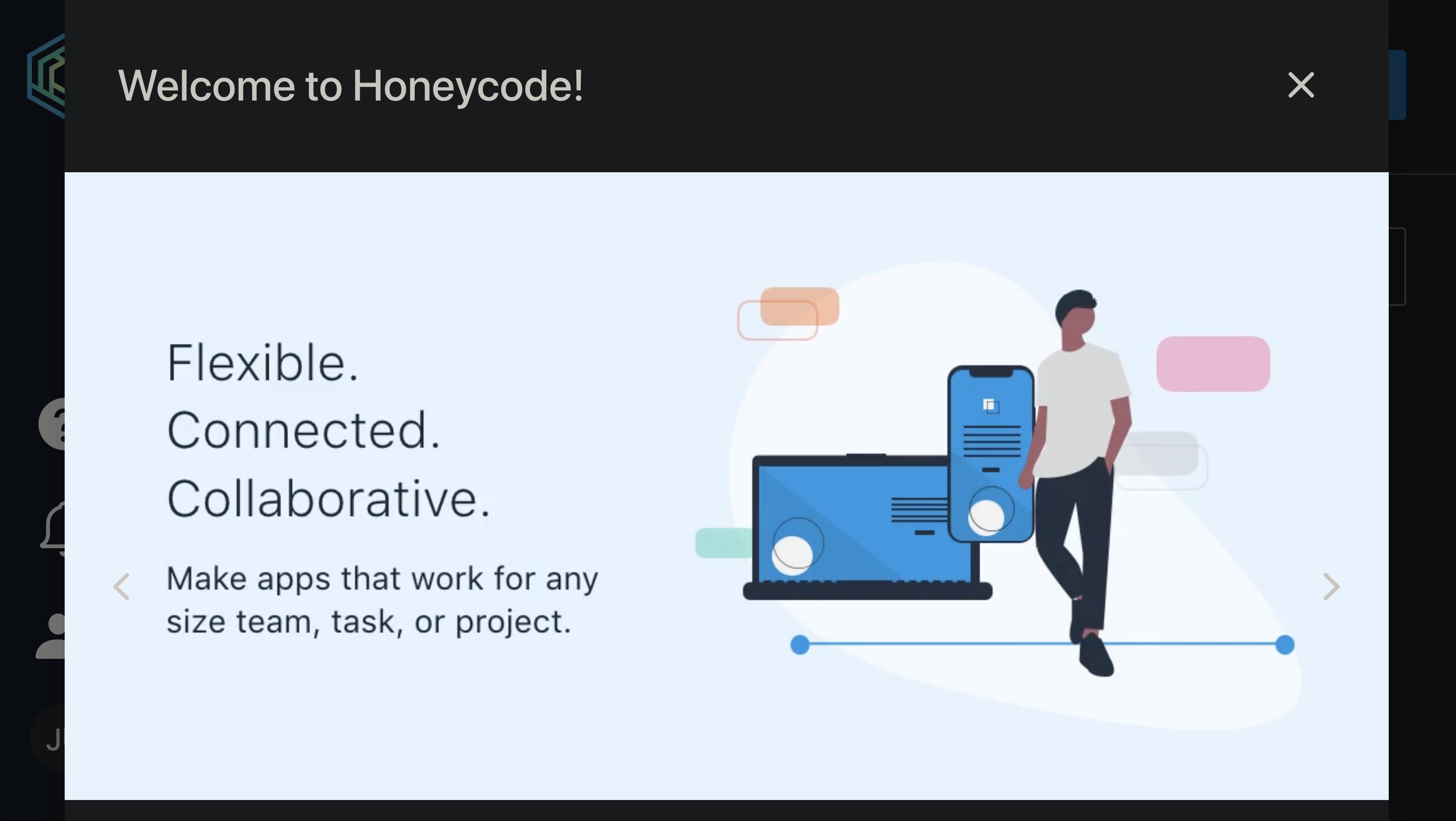Amazon Honeycode 初ログイン