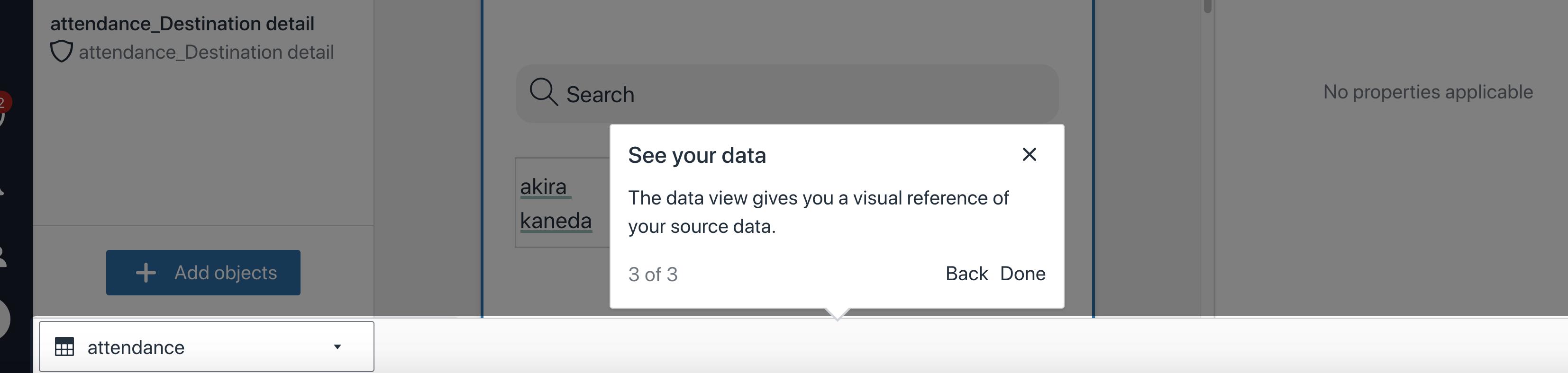 Amazon Honeycode data view