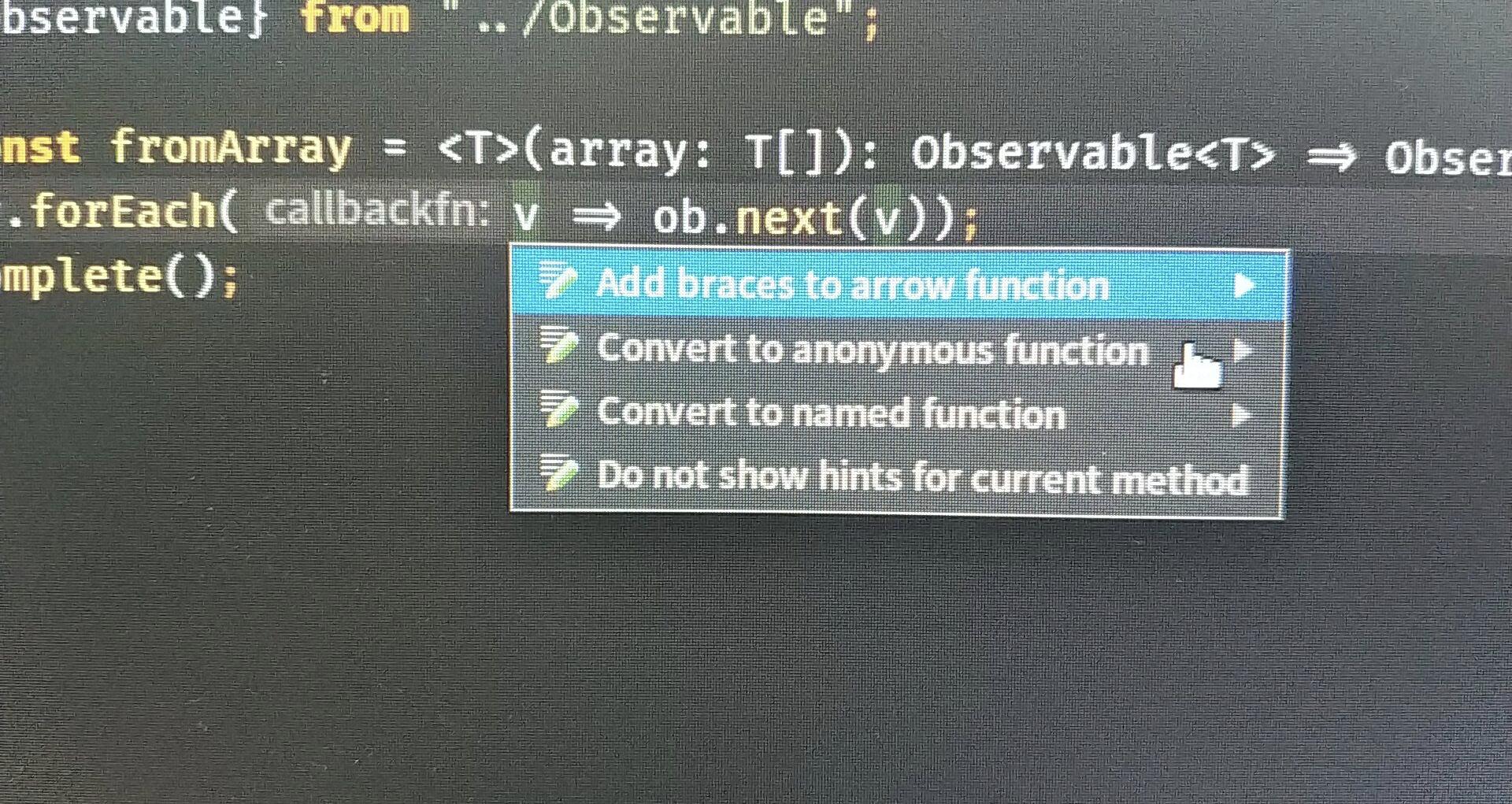 CodeAction: convert lambda expression declaration to