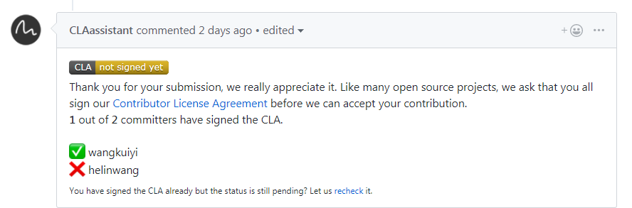 Intel Cla Contributor License Agreement Issue 8335