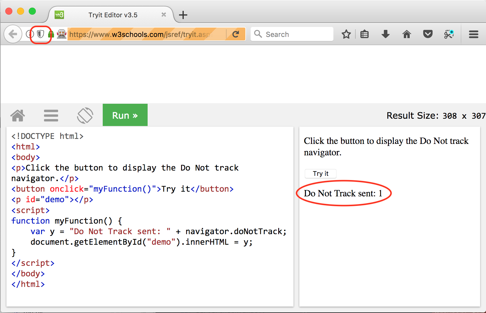 Privacy Badger does not set the doNotTrack variable in