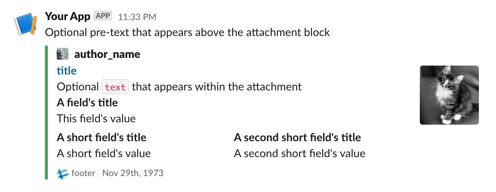 slack attachment