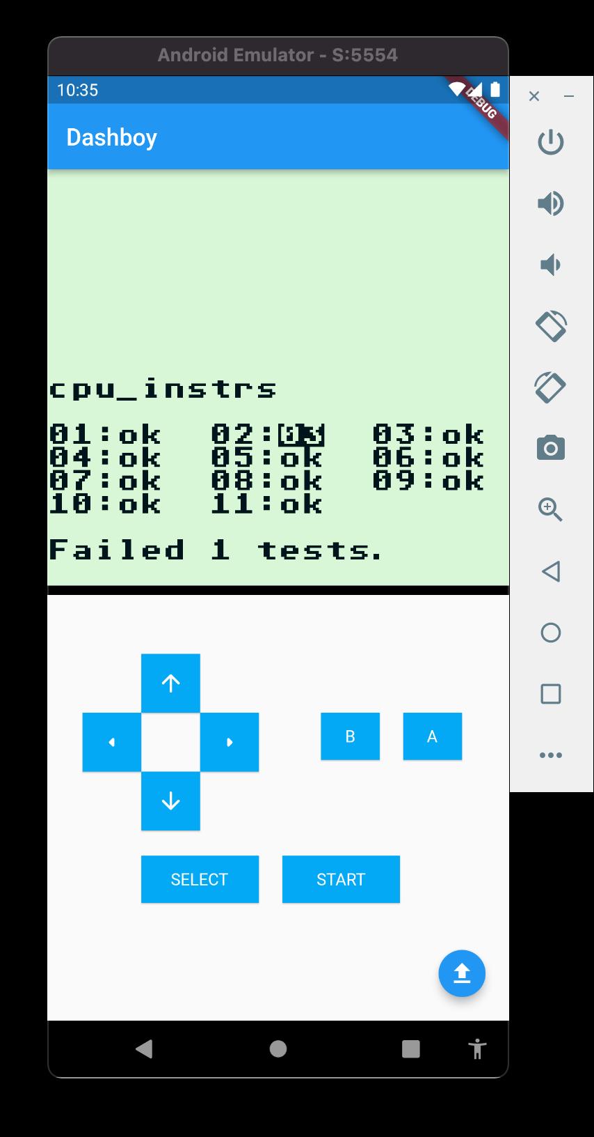 cpu instrs test result