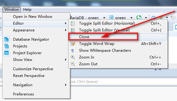 Clone SQL editor shortcut · Issue #6433 · dbeaver/dbeaver