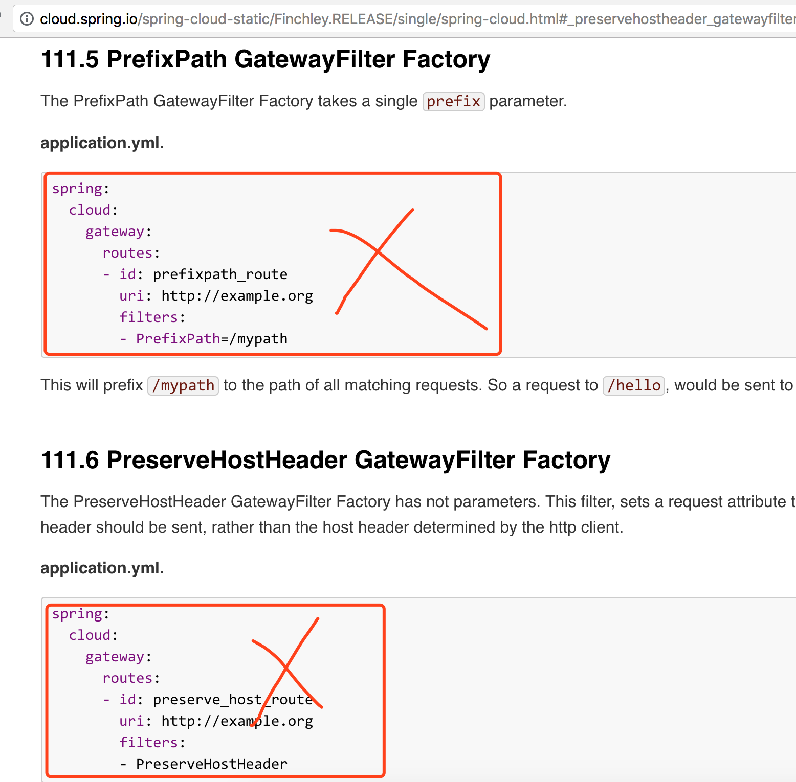 Spring Cloud Gateway Two-thirds of the documentation errors