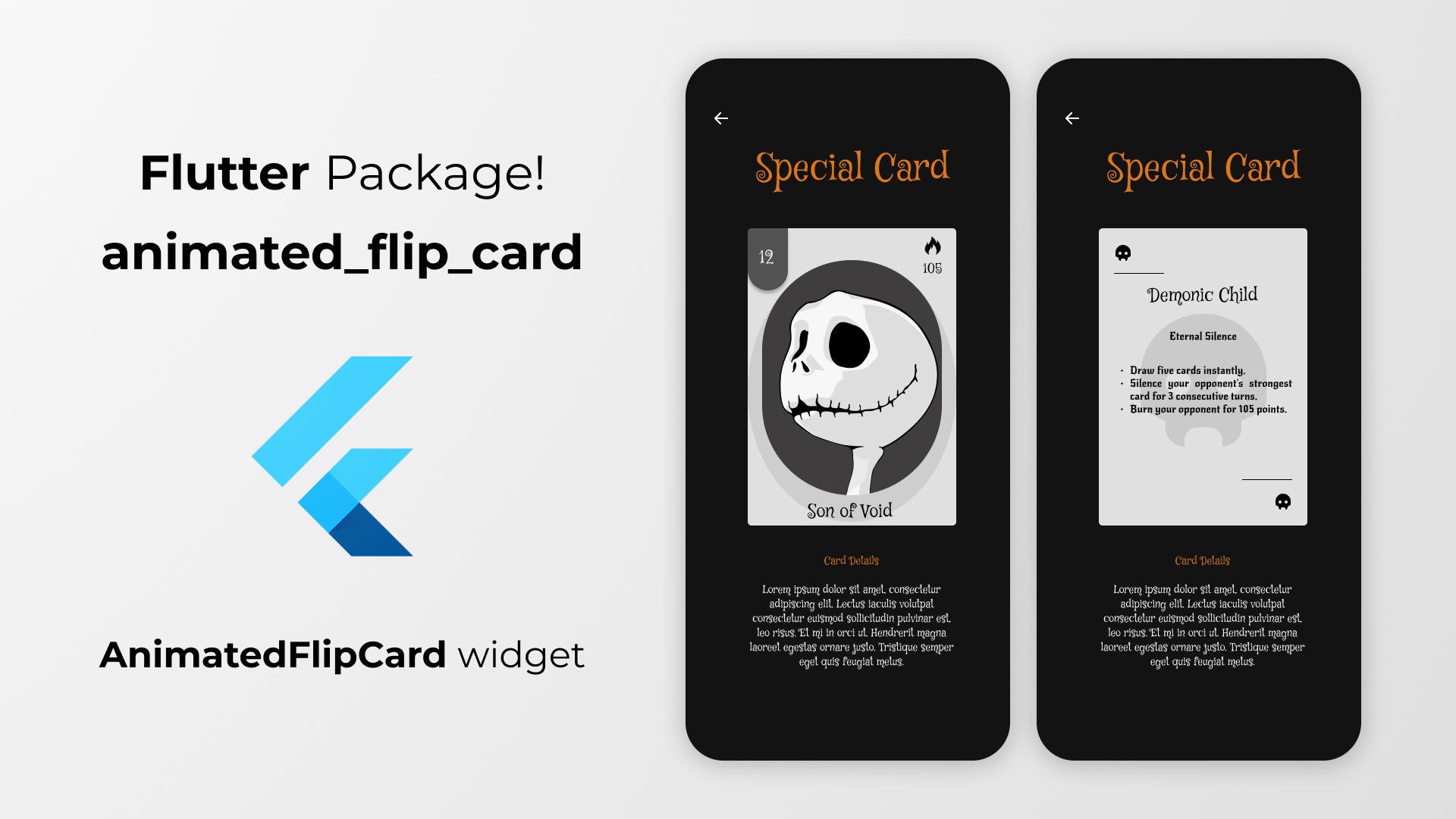 animated flip card