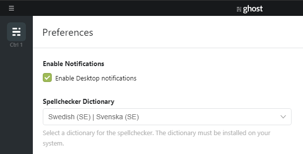Spellcheck in Swedish on Windows 10 · Issue #306 · TryGhost/Ghost
