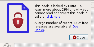Calibre cannot convert drm locked book · Issue #456