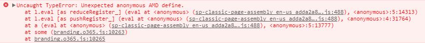 SPFx web part on classic web sites causes uncaught type error