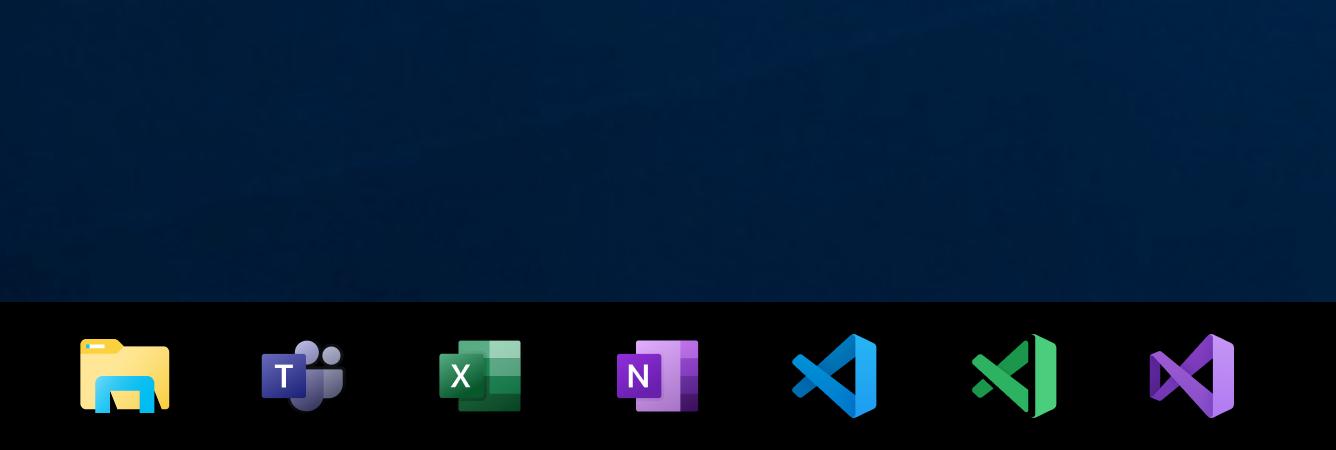 Windows taskbar-new-office
