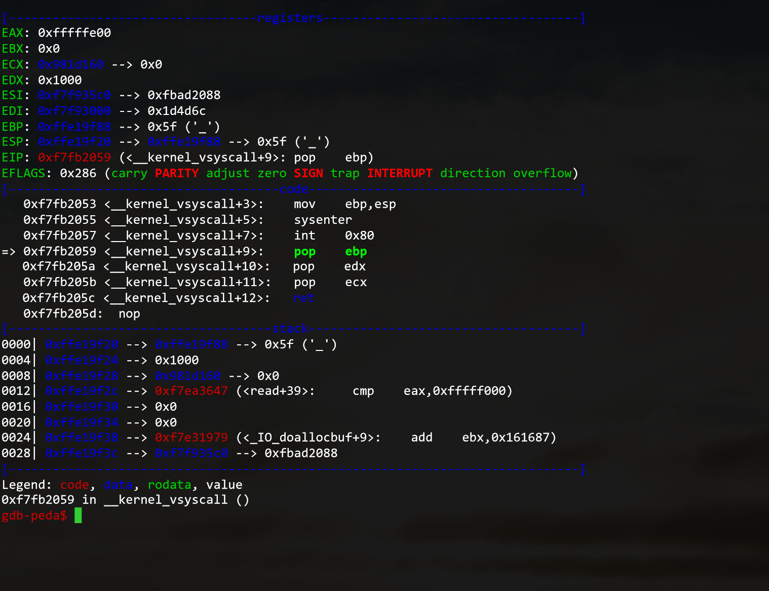 GDB Warning: not running or target is remote · Issue #1149