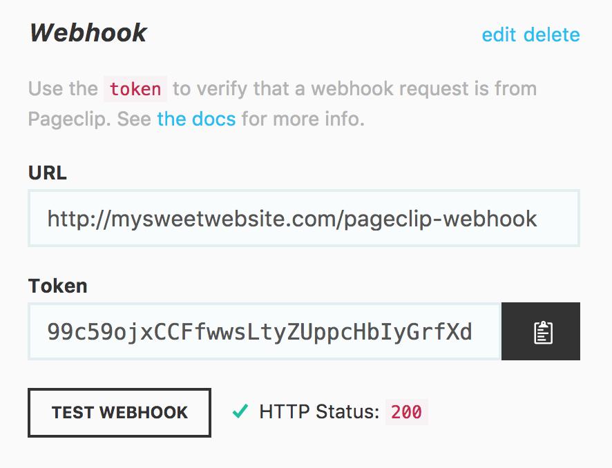 Webhook UI