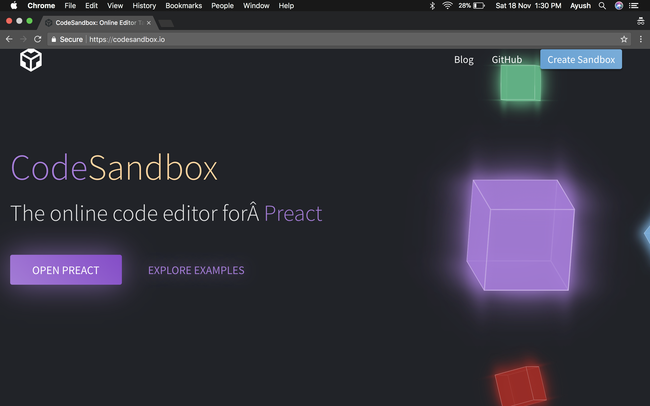 Unable to click on React cube · Issue #301 · codesandbox