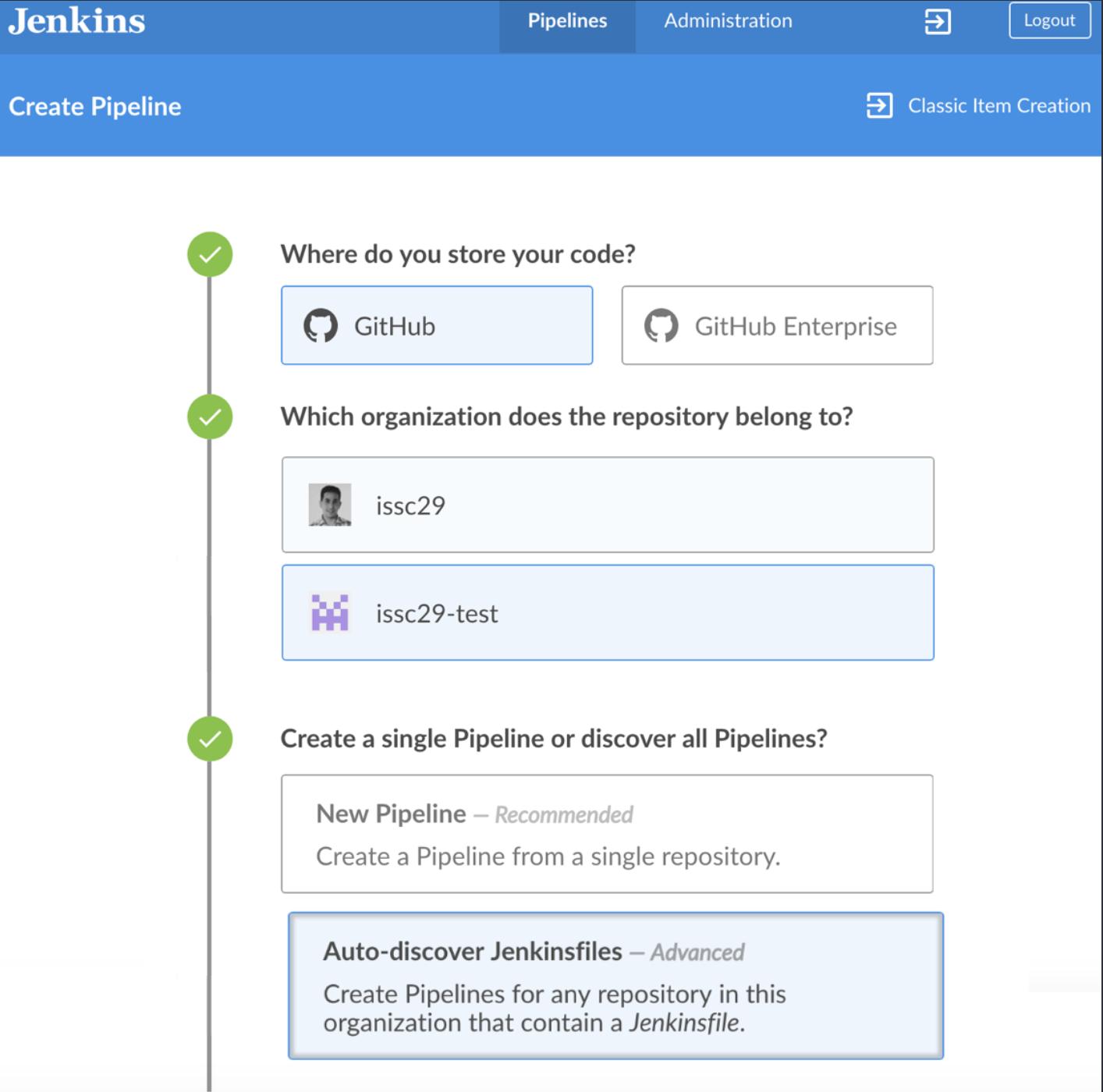 Jenkins Blue Ocean - GitHub Integration