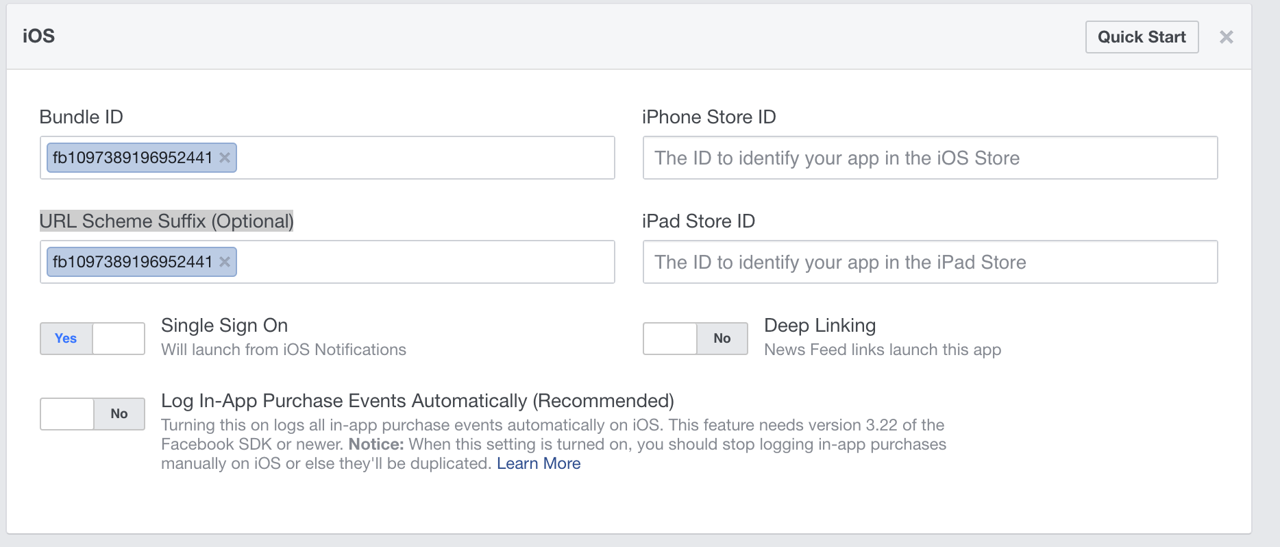 Facebook doesn't accept OAuth Redirect URI specified by tutorial