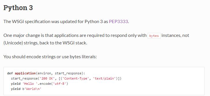 WSGI-python3