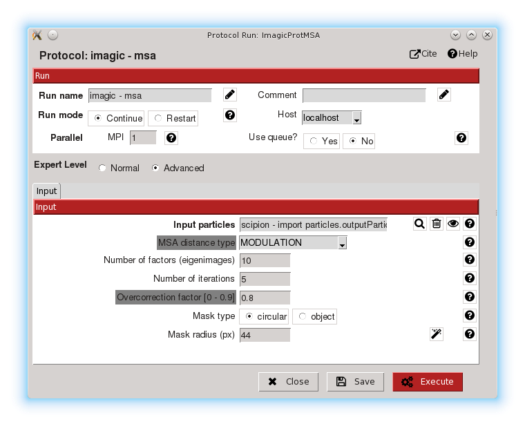 Advanced protocol parameters