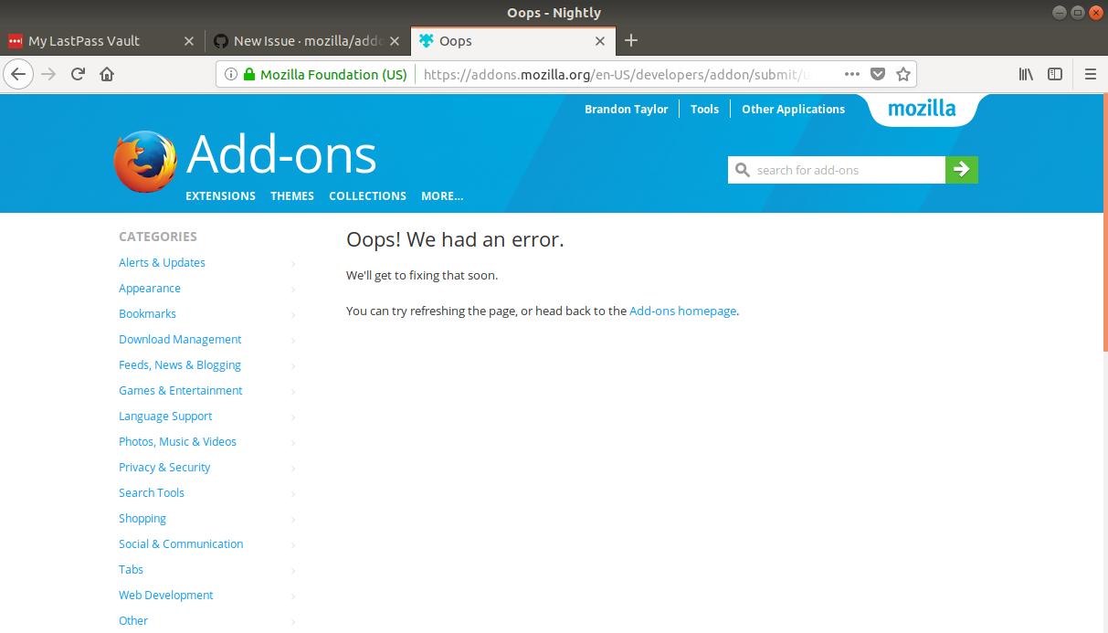 Oops! We had an error