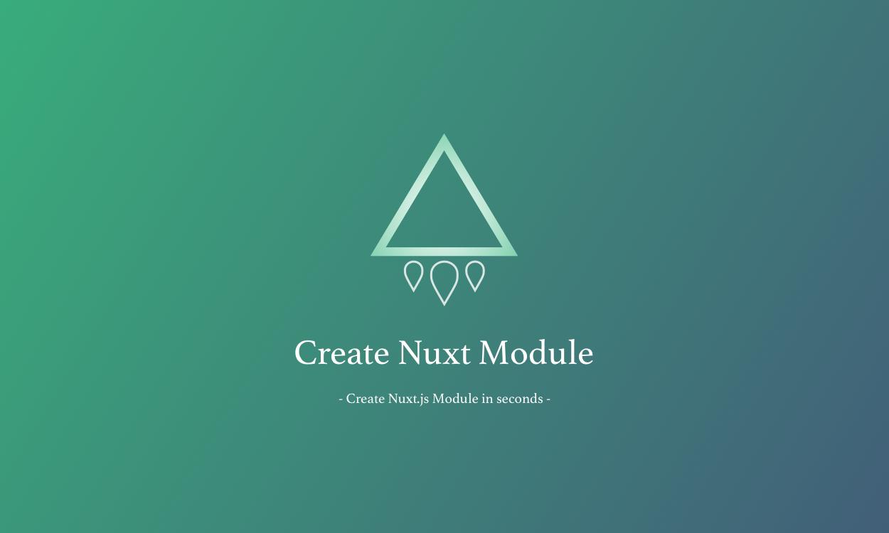 create-nuxt-module