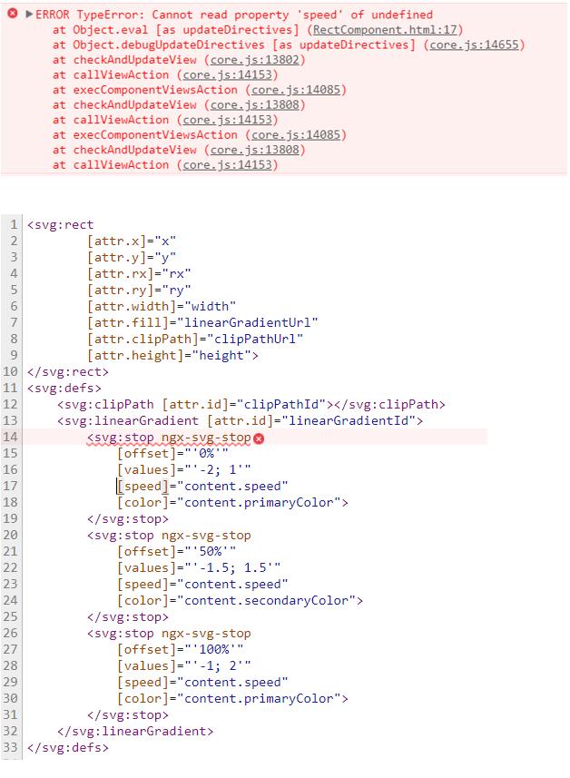 Angular 5 x | ERROR TypeError: Cannot read property 'speed
