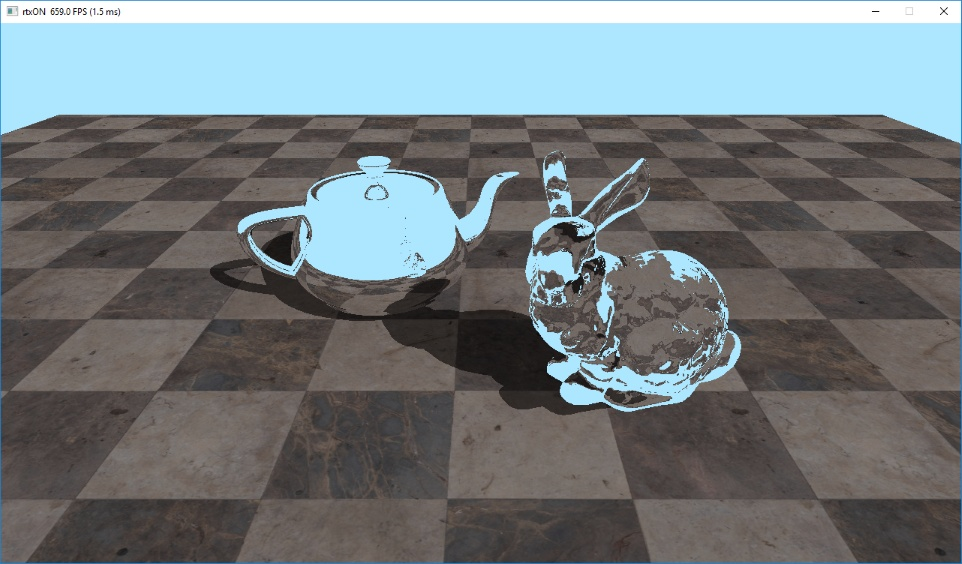 Teapot and a bunny