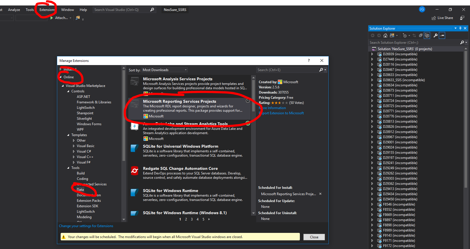 SSDT tools for Visual Studio 2019 are not available · Issue