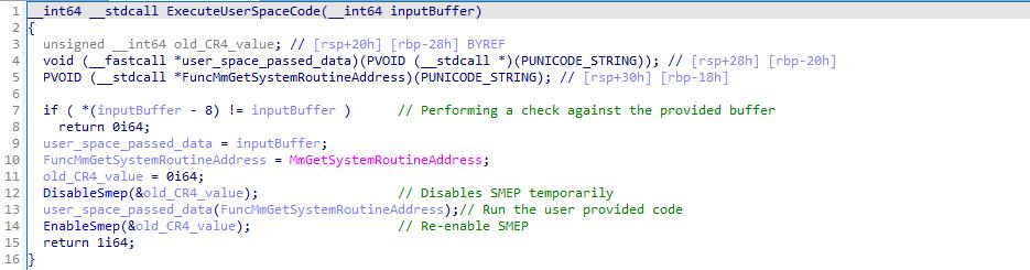 ExecuteUserCode