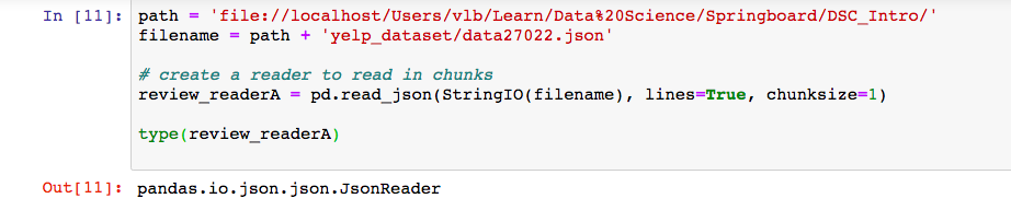 Unexpected ValueError when using a json reader to read file