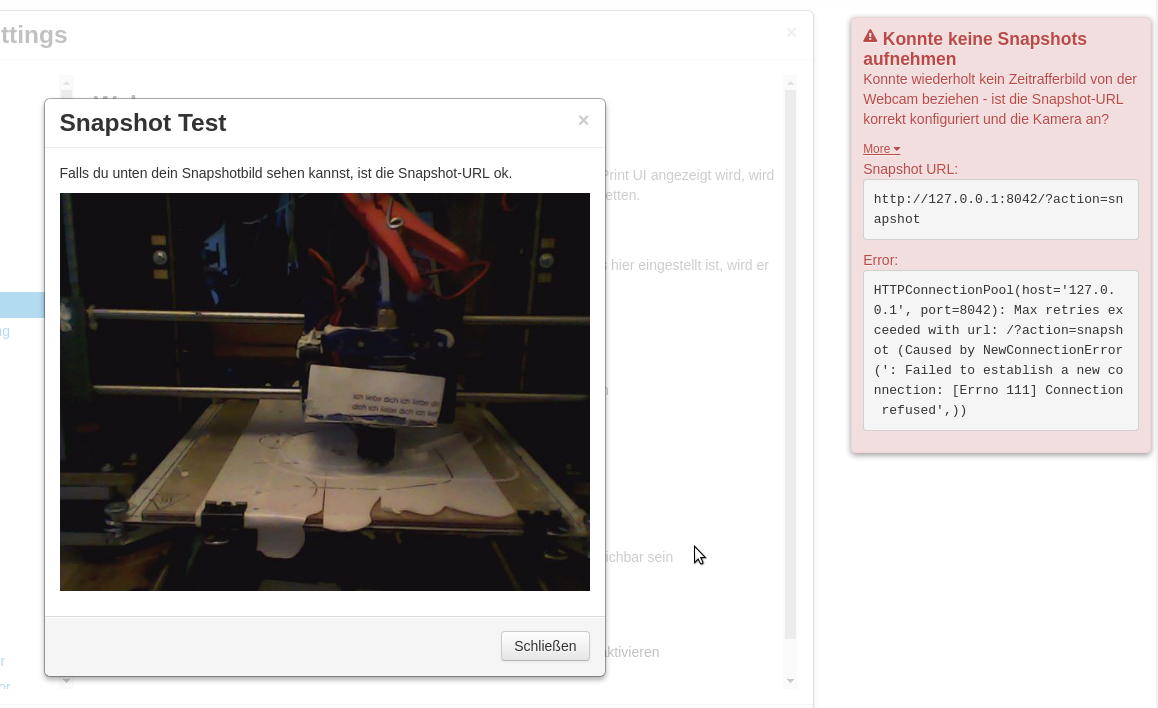 Octoprint Timelaps reports Wrong Port  · Issue #2600