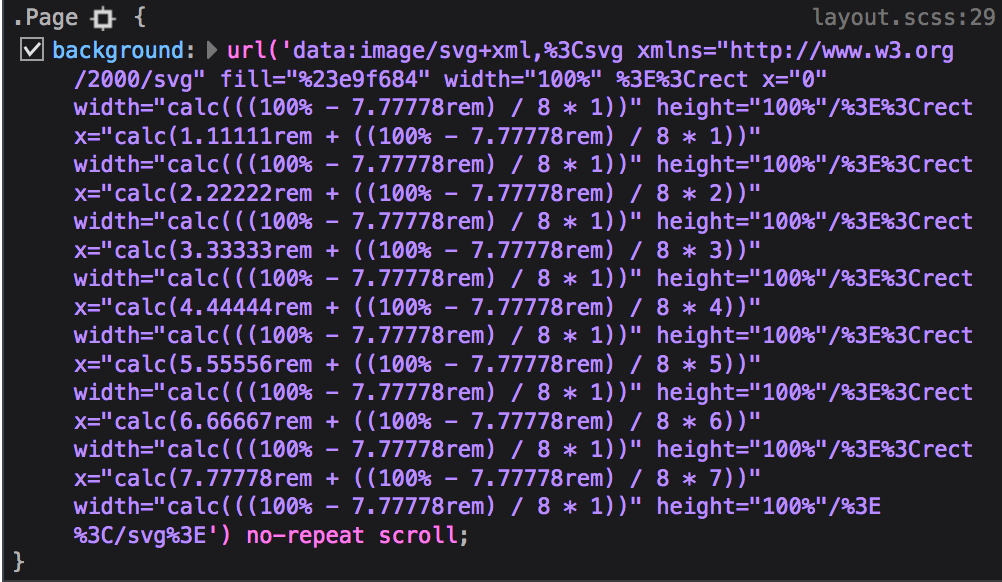 Not all browsers support susy-svg-grid() with mixed units