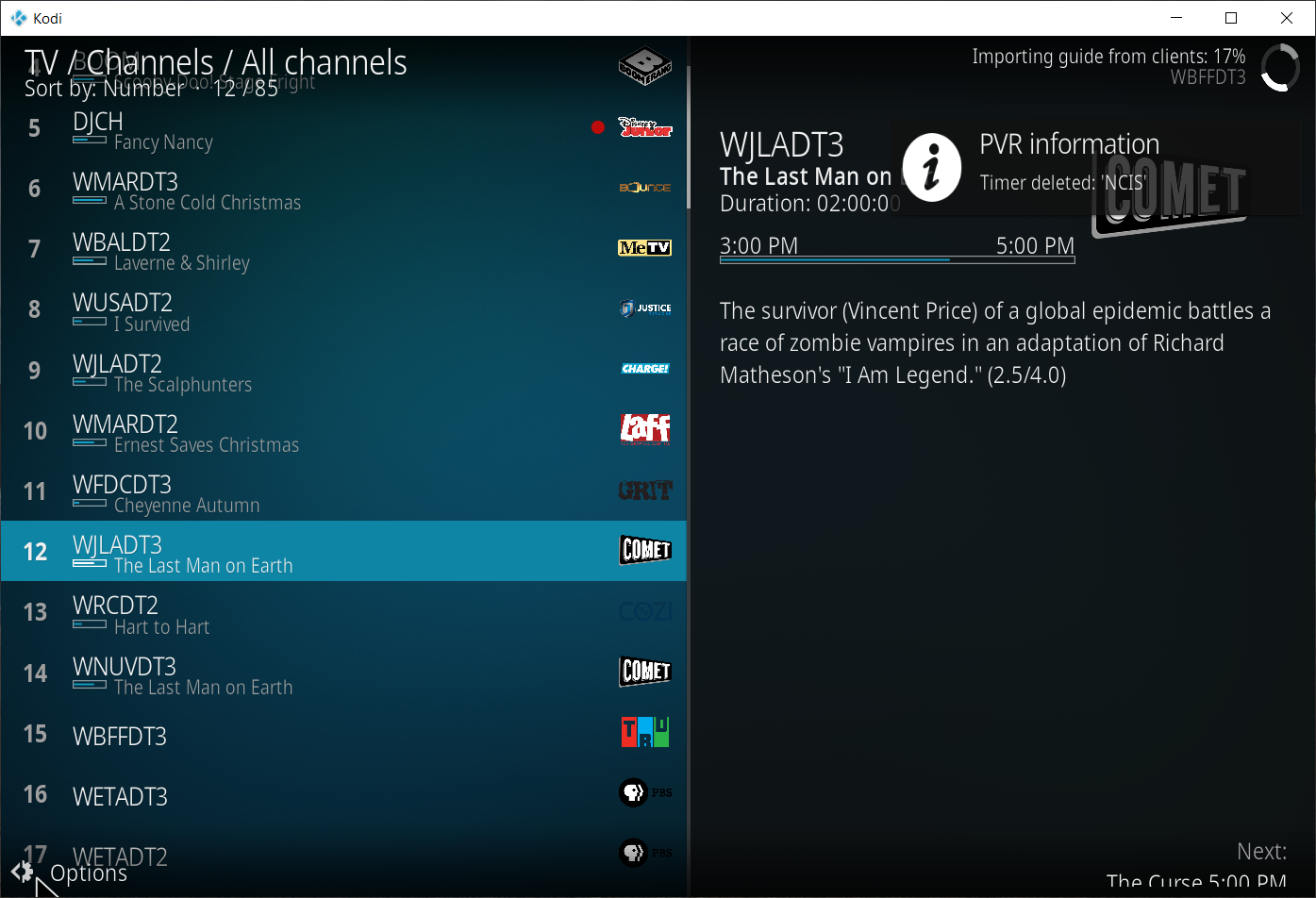 Extended Channel Names Not Displayed In Kodi (18 0 - RC3